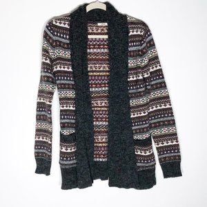 Tulle Sweater Womens Small Open Front Cardigan